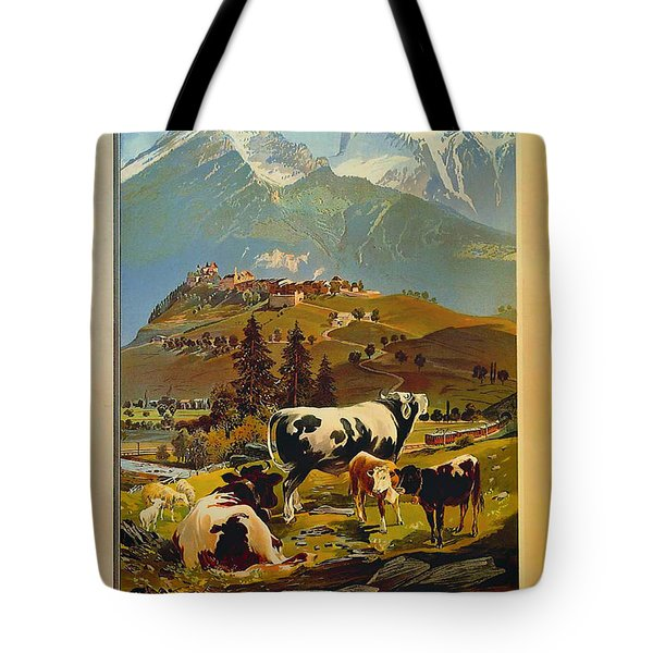 See Switzerland 1906 Tote Bag by Mountain Dreams