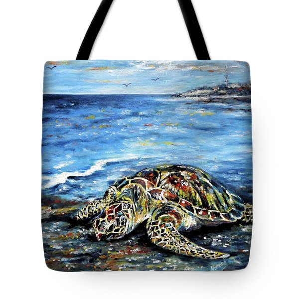 See Weed Turtle Tote Bag