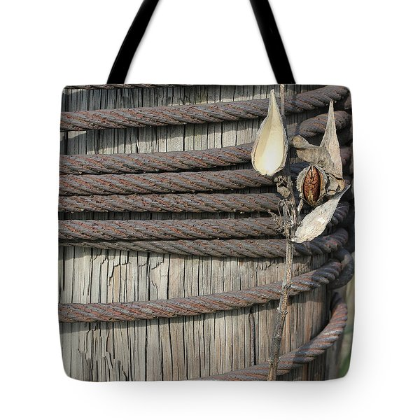 Seed Pod Iron And Wood Tote Bag