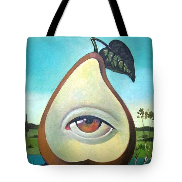 Seeing Pear Tote Bag by Filip Mihail