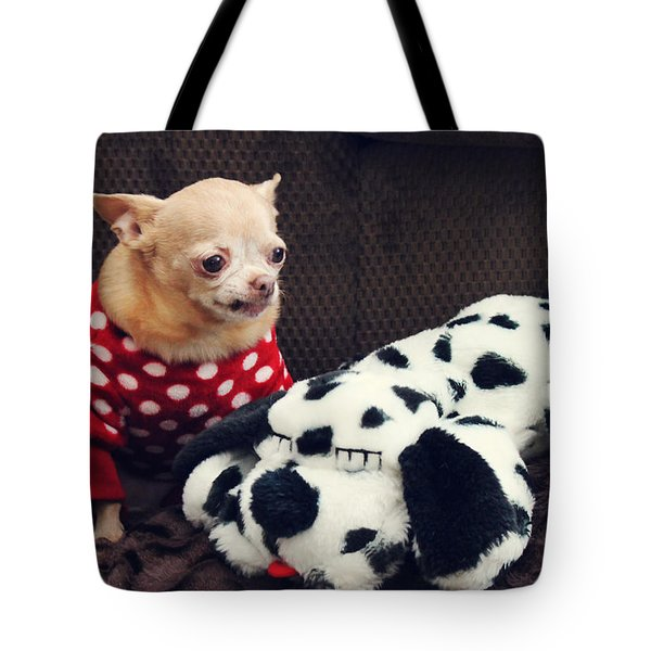 Seeing Spots Tote Bag by Laurie Search