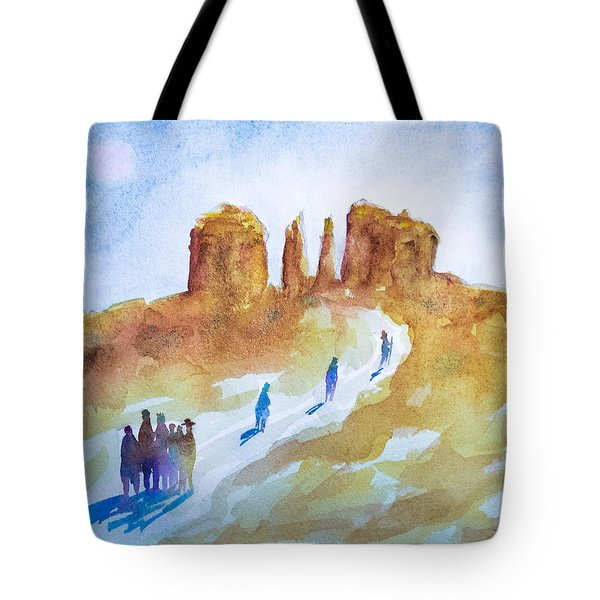 Seekers At Cathedral Rock Tote Bag