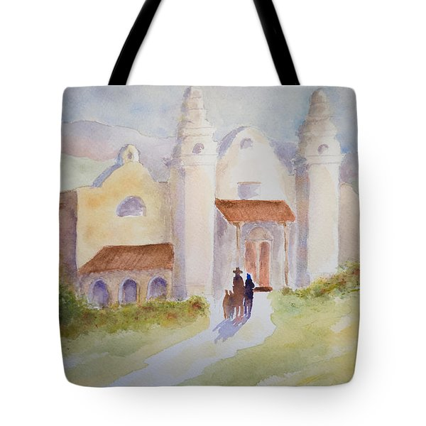 Seekers At The Mission Tote Bag