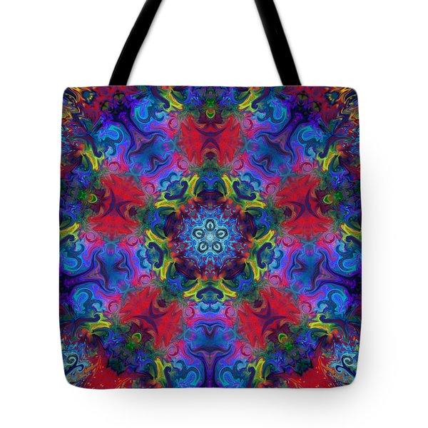Seeking The Source Tote Bag by Peggy Collins