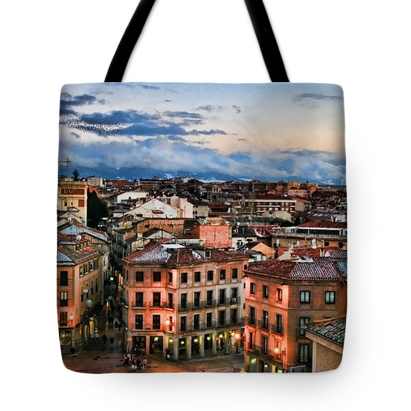 Segovia Nights In Spain By Diana Sainz Tote Bag