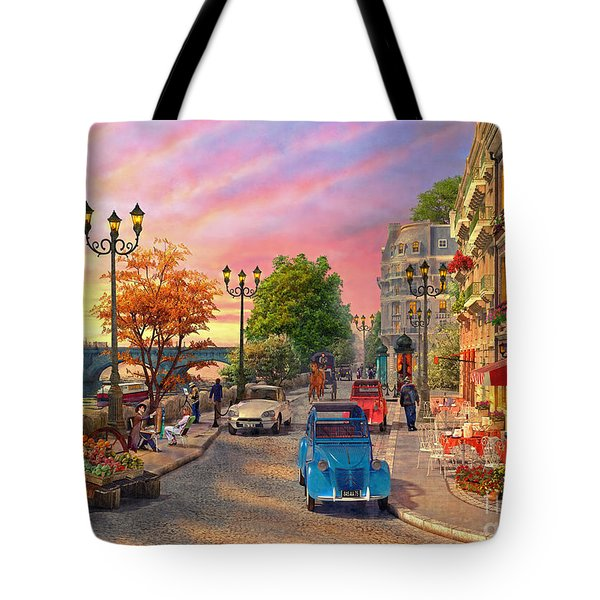 Seine Sunset Tote Bag