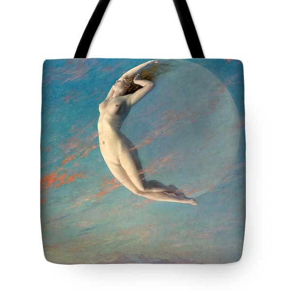 Tote Bag featuring the painting Selene by Albert Aublet