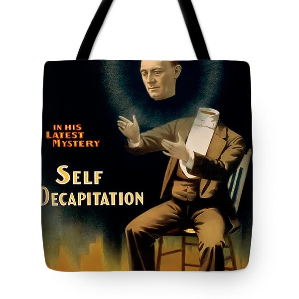 Self Decapitation Tote Bag