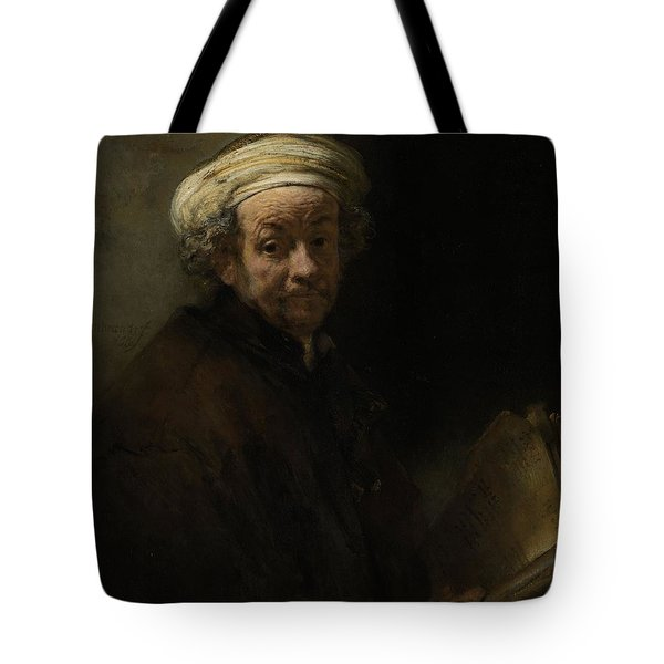 Self Portrait As The Apostle Paul, 1661 Oil On Canvas Tote Bag