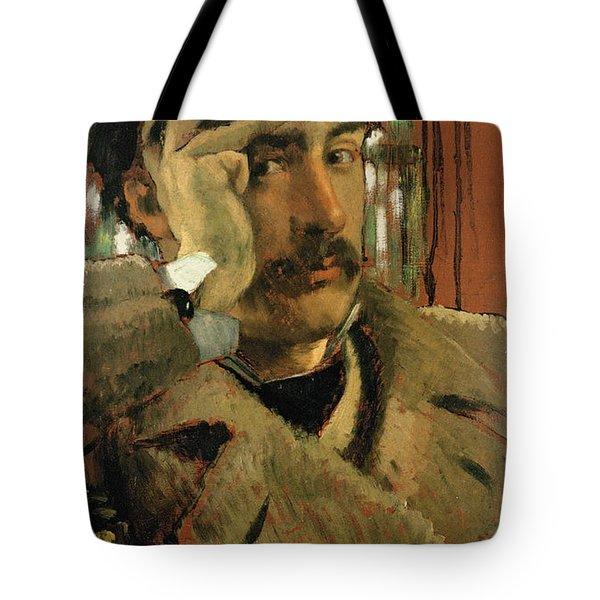 Self Portrait, C.1865 Panel Tote Bag