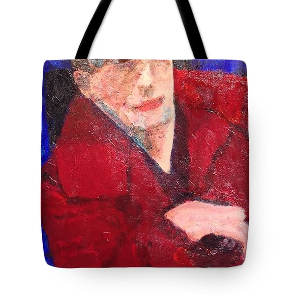 Tote Bag featuring the painting Self-portrait by Donald J Ryker III