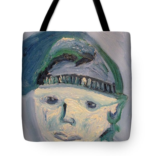 Self Portrait In Blue And Green Tote Bag