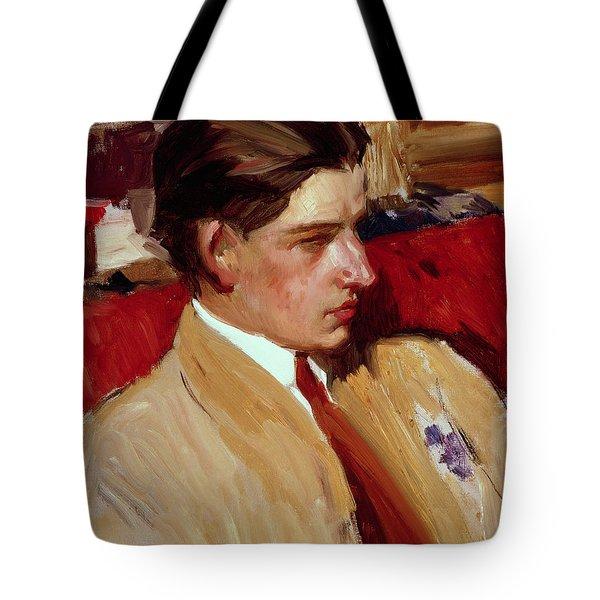 Self Portrait In Profile Tote Bag by Joaquin Sorolla y Bastida