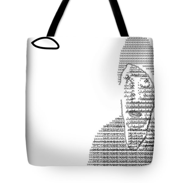 Self Portrait In Text Tote Bag