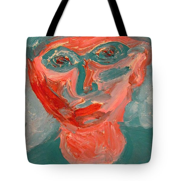 Self Portrait In Turquoise And Rose Tote Bag