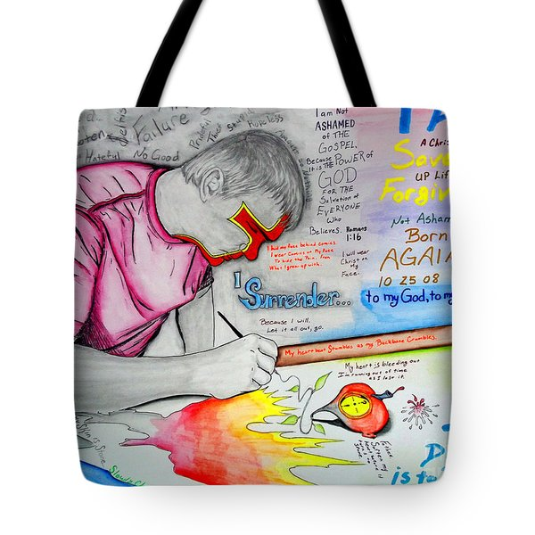 Self Portrait Tote Bag by Justin Moore