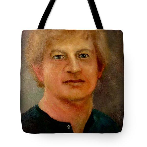 Self Portrait Tote Bag by Randy Burns