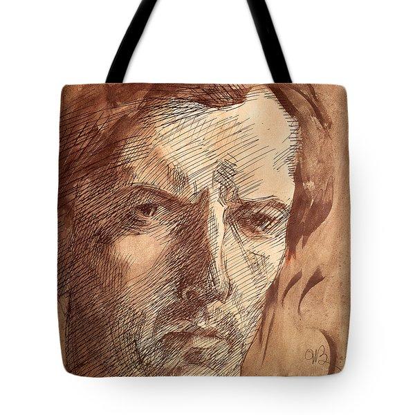 Self Portrait Tote Bag by Umberto Boccioni