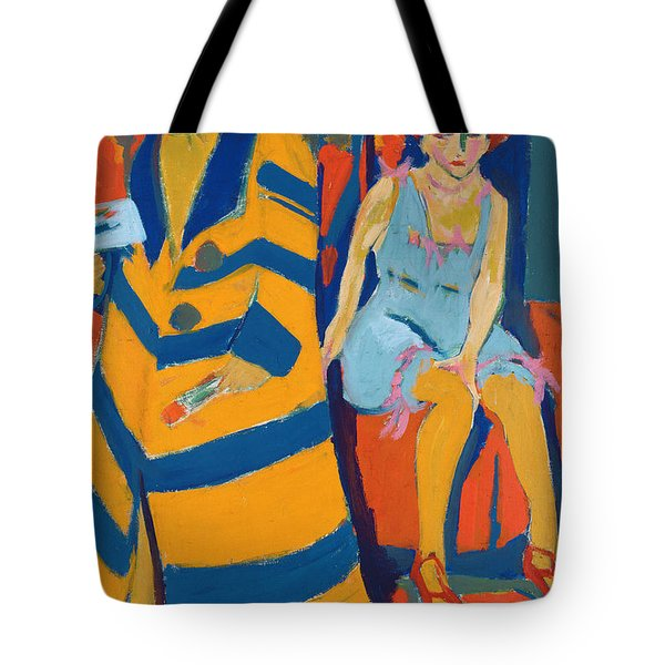 Self Portrait With A Model Tote Bag by Ernst Ludwig Kirchner