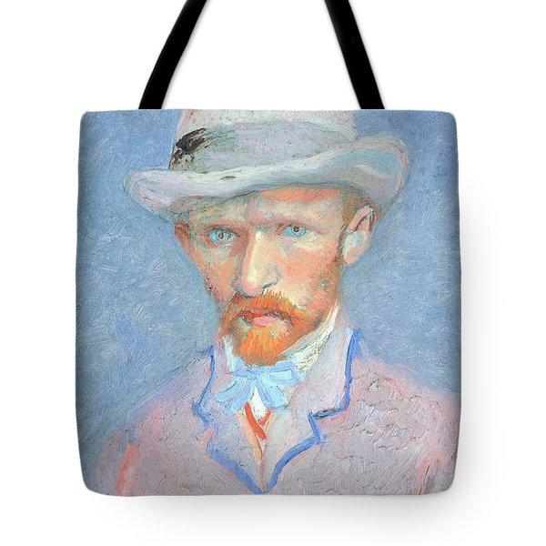 Self-portrait With Gray Felt Hat Tote Bag by Vincent van Gogh