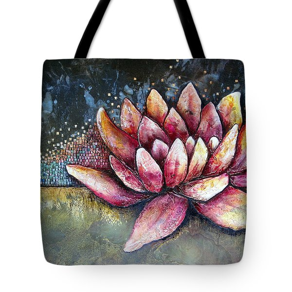 Self Portrait With Lotus Tote Bag