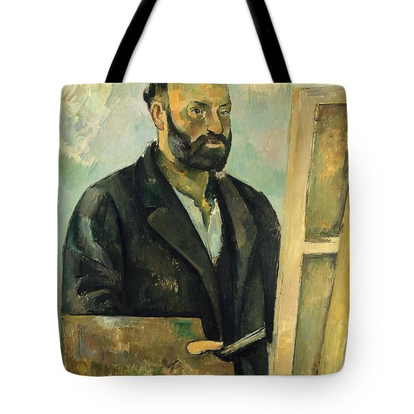 Self Portrait With Palette Tote Bag by Paul Cezanne