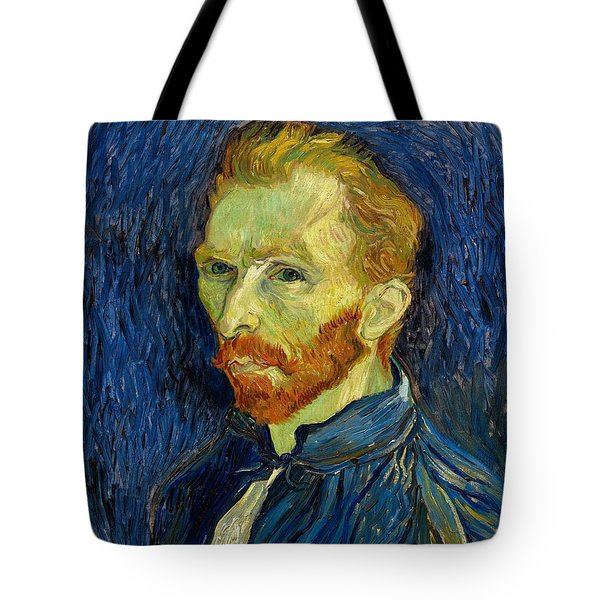 Tote Bag featuring the painting Self Portrait With Palette by Vincent Van Gogh