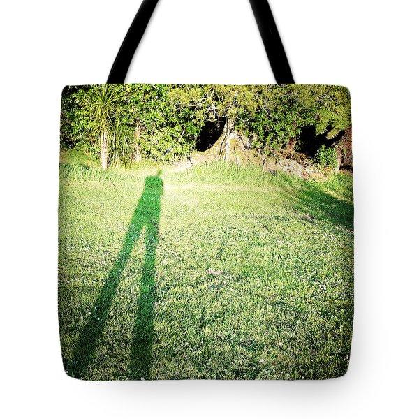 Selfie Shadow Tote Bag by Les Cunliffe