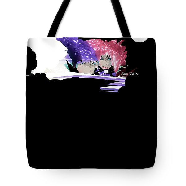 Tote Bag featuring the digital art Selfless Women by Ann Calvo