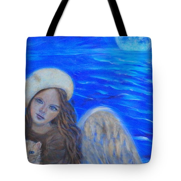 Selina Little Angel Of The Moon Tote Bag by The Art With A Heart By Charlotte Phillips