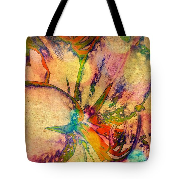 Springtime Floral Abstract Tote Bag