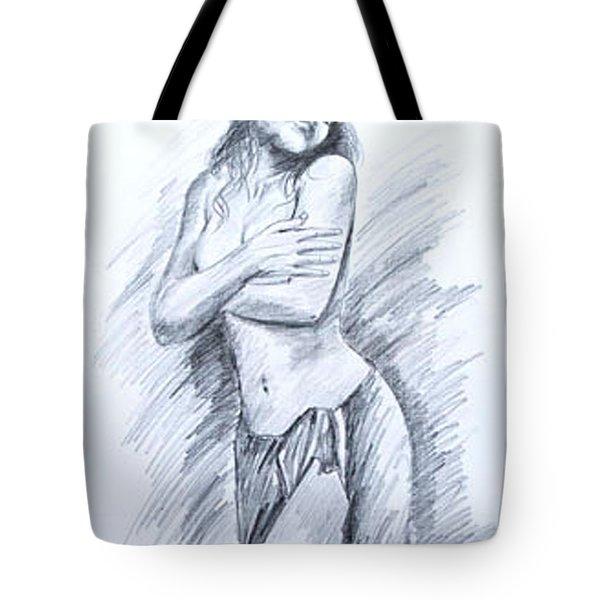 Semi Nude Tote Bag