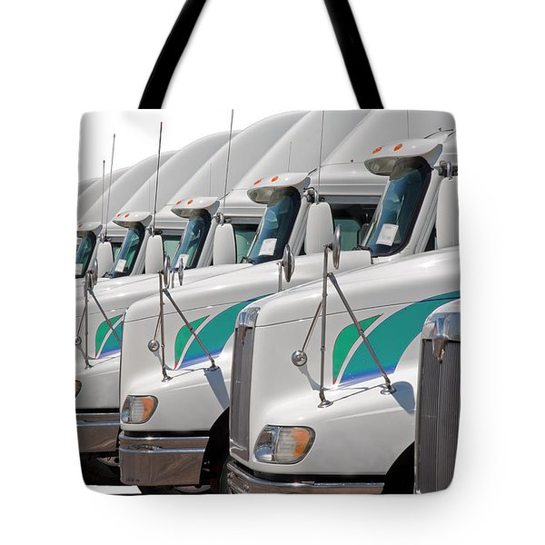 Semi Truck Fleet Tote Bag