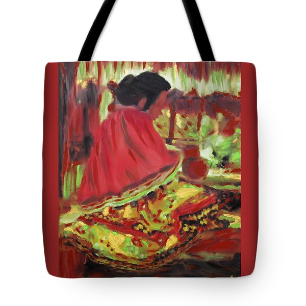 Seminole Indian At Work Tote Bag