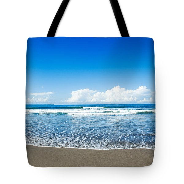 Tote Bag featuring the photograph Seminyak Beach by Yew Kwang