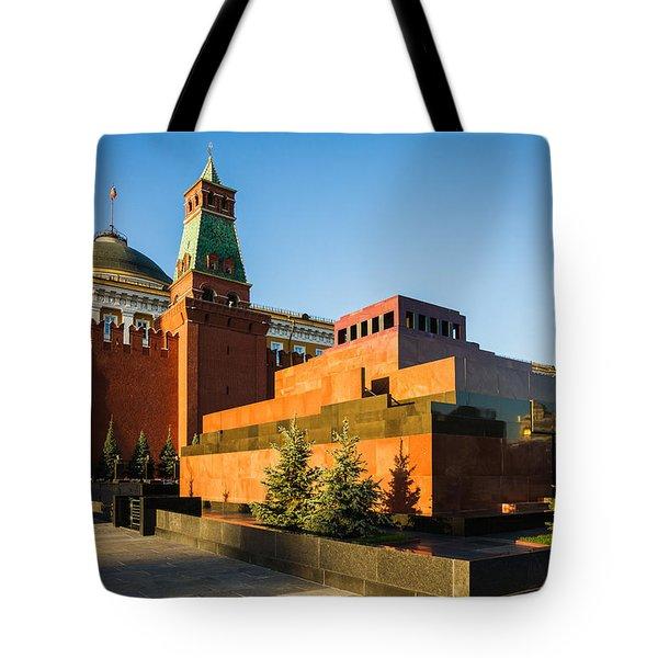 Senate Tower And Lenin's Mausoleum Tote Bag by Alexander Senin