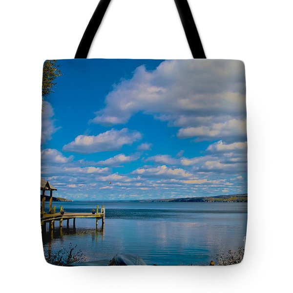 Seneca Lake At Glenora Point Tote Bag by William Norton