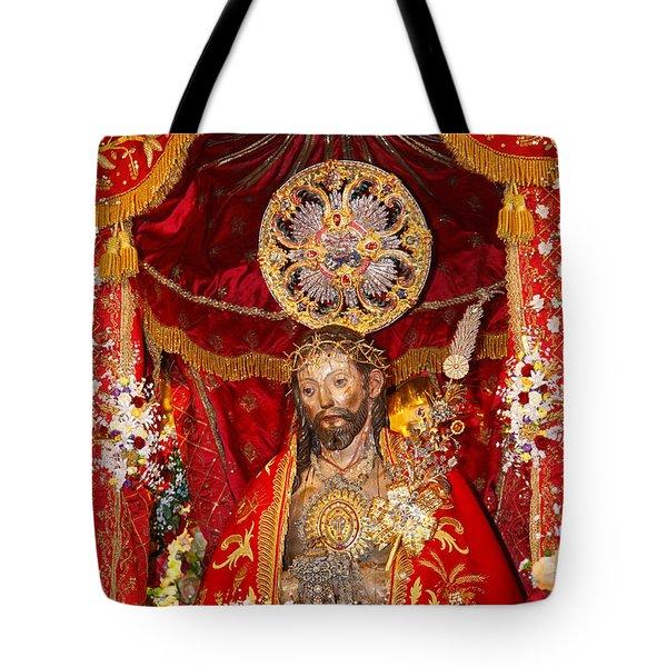 Senhor Santo Cristo Dos Milagres Tote Bag by Gaspar Avila