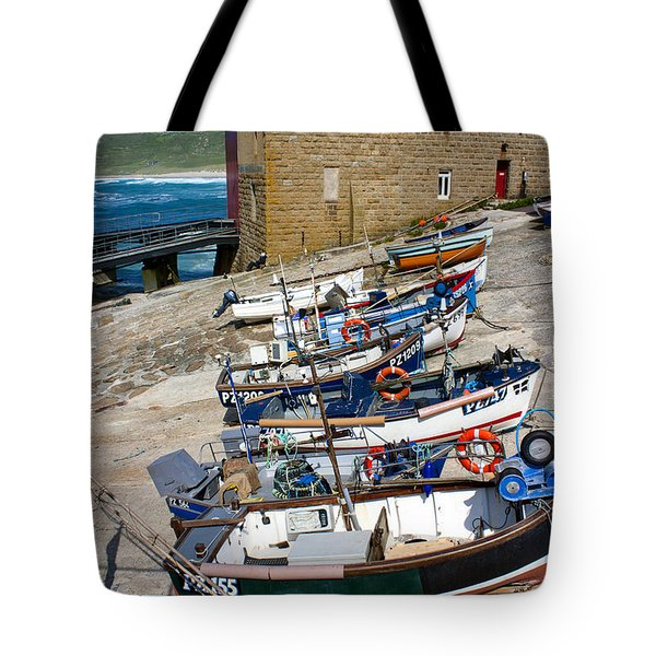 Sennen Cove Fishing Fleet Tote Bag