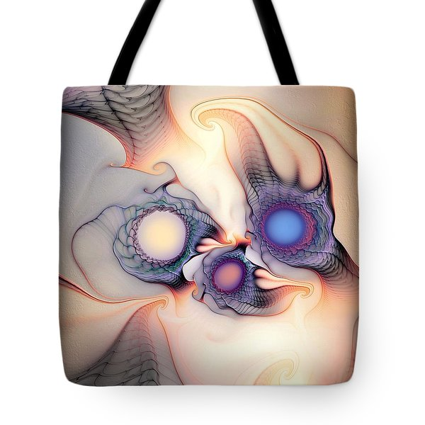 Tote Bag featuring the digital art Sensorial Nirvana by Casey Kotas