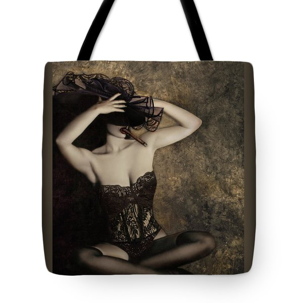 Sensuality In Sepia - Self Portrait Tote Bag by Jaeda DeWalt