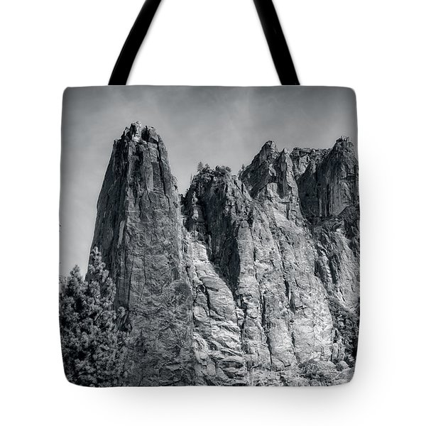 Tote Bag featuring the photograph Sentinel Rock At Yosemite National Park by John M Bailey