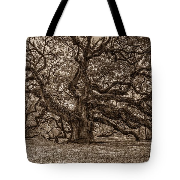 Sepia Angel Oak Tote Bag