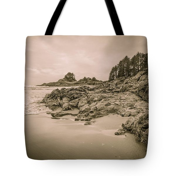 Cox Bay Sepia Tote Bag