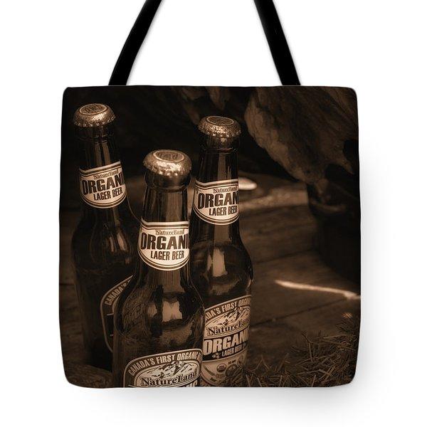 Sepia Bottles Tote Bag by Rachel Mirror