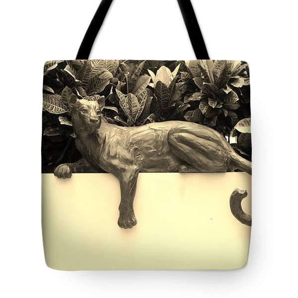 Sepia Cat Tote Bag by Rob Hans