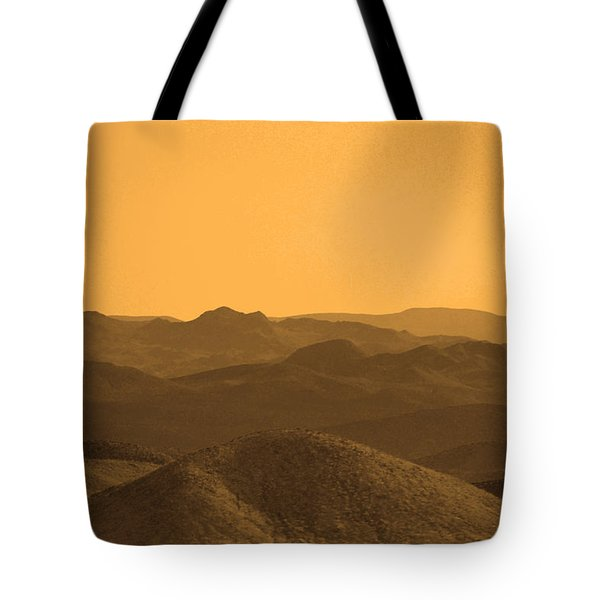 Sepia Mountains Tote Bag