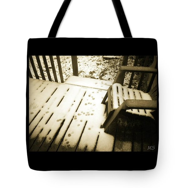 Tote Bag featuring the photograph Sepia - Nature Paws In The Snow by Absinthe Art By Michelle LeAnn Scott
