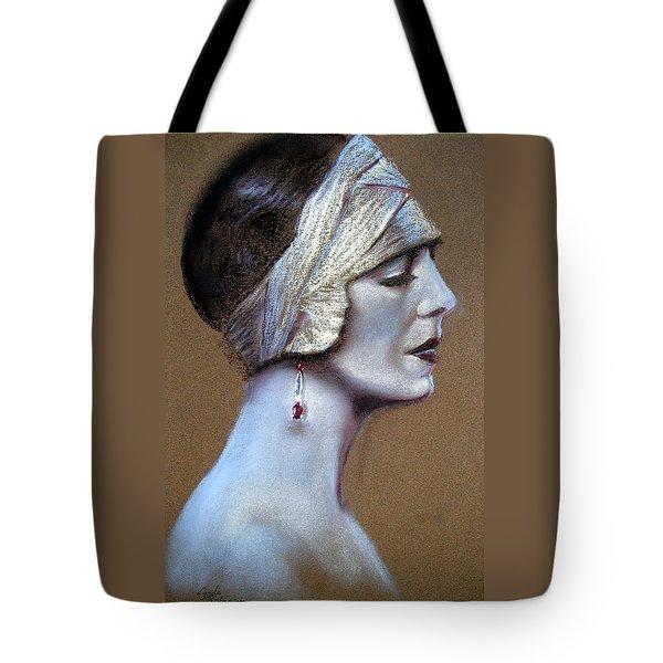 Sepia Siren Tote Bag by Lynda Robinson