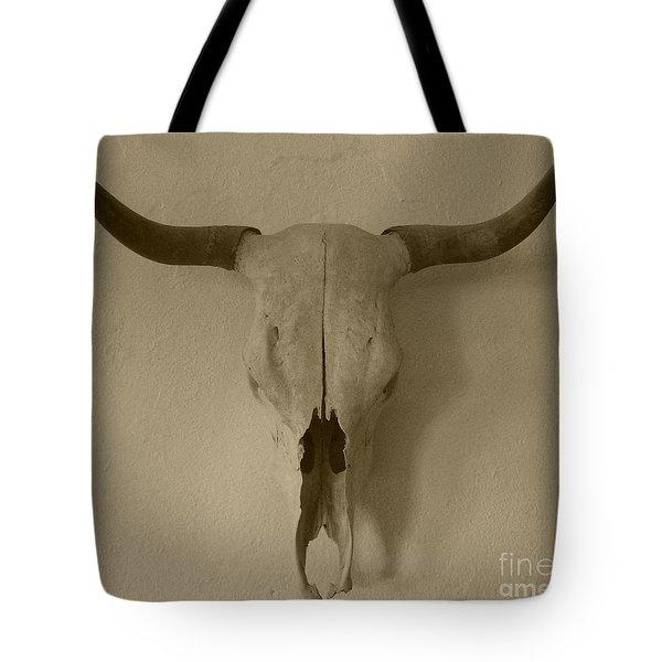 Sepia Skull Tote Bag